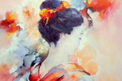 geisha Kyoko 60 x 60 cm.